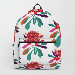 Waratah Pattern; Botanical; Floral Print; Australian Native Plant Backpack