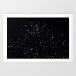 Marina Fireworks 2018 view 3 Art Print