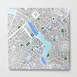 Infinite City - Winter Metal Print
