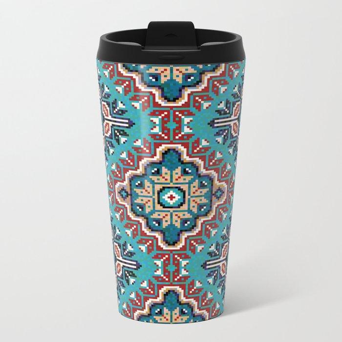 Native American Navajo pattern II Metal Travel Mug
