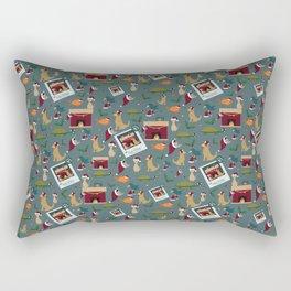 Pet Family Portrait Rectangular Pillow