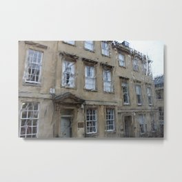 City of Bath in the Rain Metal Print