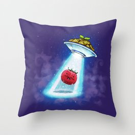 UFO Spaghetti Dreams Throw Pillow