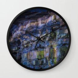Rainbow in the Rocks Wall Clock