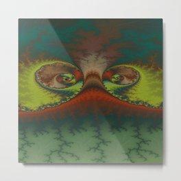 Green Lizard Metal Print