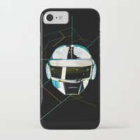daft punk iPhone & iPod Cases featuring Daft Punk by Naje Anthony Hart