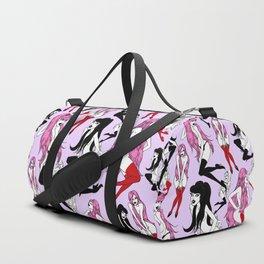 Pink Black Vamp Paradise Duffle Bag