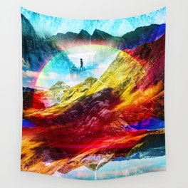 The girl from the Liquid World Wall Tapestry