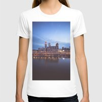 cleveland T-shirts featuring Daybreak in Cleveland by Jeffrey Stroup