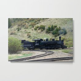 Durango&Silverton Engine 480 Metal Print
