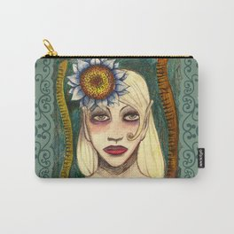 blue sunflower Carry-All Pouch
