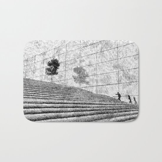 Fingerprint - Stairway Bath Mat