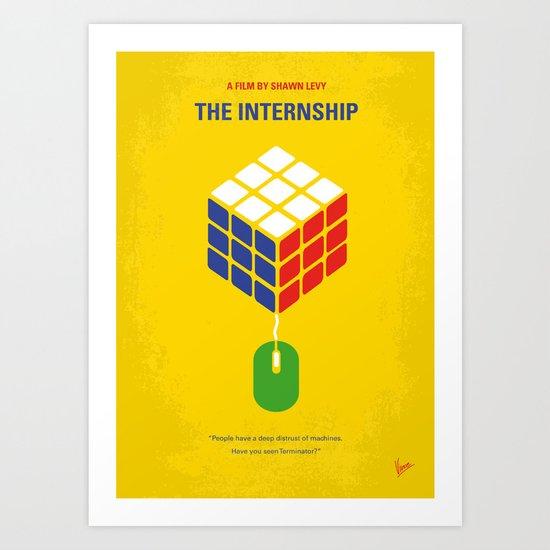 No215 My The Internship minimal movie poster Art Print
