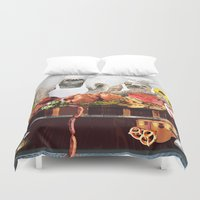 sloths Duvet Covers featuring Sloths by Big AL