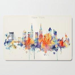 New York City Skyline Cutting Board