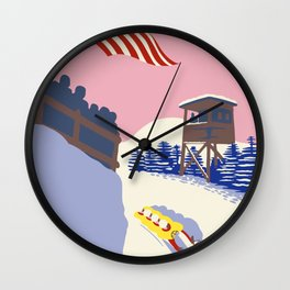 Lake Placid Olympic bobsled run Wall Clock