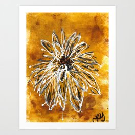 Anemone in Grey Art Print