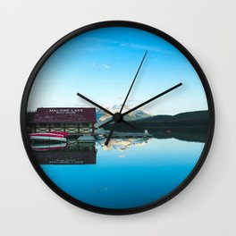 Lake Maligne Reflection Wall Clock