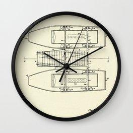 Pontoon Boat 01-1944 Wall Clock