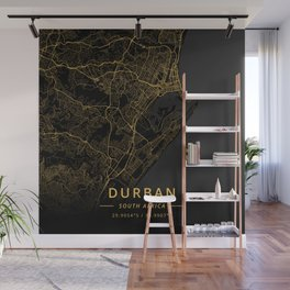 Durban, South Africa - Gold Wall Mural