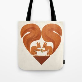 Love Heart Squirrels Tote Bag