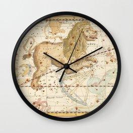 Vintage Astronomical Print - Bode - Leo, 1805 Wall Clock