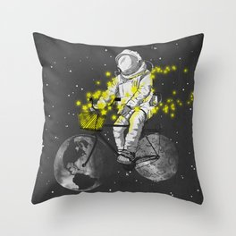 Sower of stars Throw Pillow
