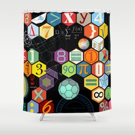 Math in color Black B Shower Curtain