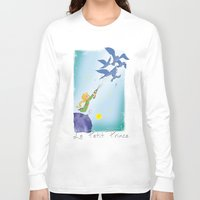 le petit prince Long Sleeve T-shirts featuring Le Petit Prince by karicola