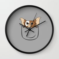 pocket Wall Clocks featuring G pocket by Buby87