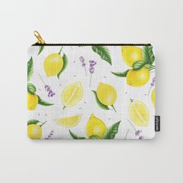 Lemon and lavender Carry-All Pouch
