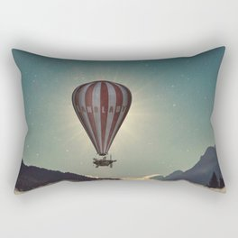 Exploring In A Steampunk Air Balloon Rectangular Pillow