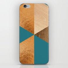 Gold Green Wood iPhone & iPod Skin