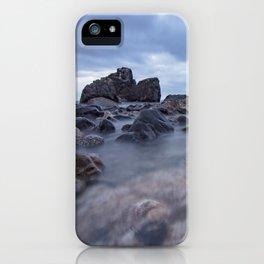 Long exposure blue hour seascape Rocky Beach amazing scenery iPhone Case