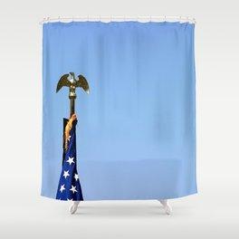 USA Flag Top Shower Curtain