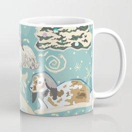 Bunny Winter Walk in Woods Coffee Mug