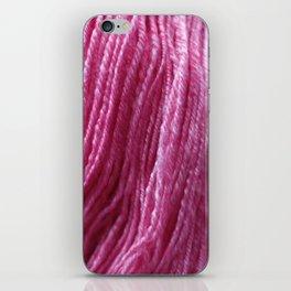 Handspun Yarn / Hot Pink! iPhone Skin