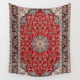 Fine Silk & Wool Isfahan Persian Rug Print Wall Tapestry
