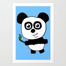 Chibi Panda Art Print