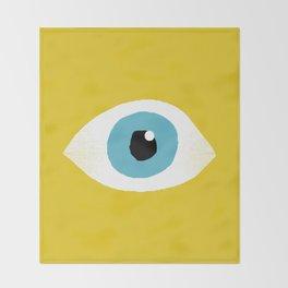 eye open Throw Blanket