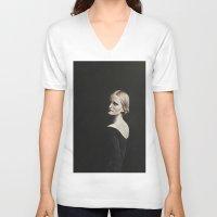elsa V-neck T-shirts featuring Elsa by Kalynn Burke