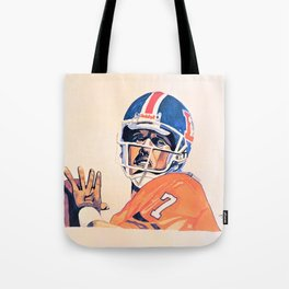 The Heater featuring John Elway Tote Bag