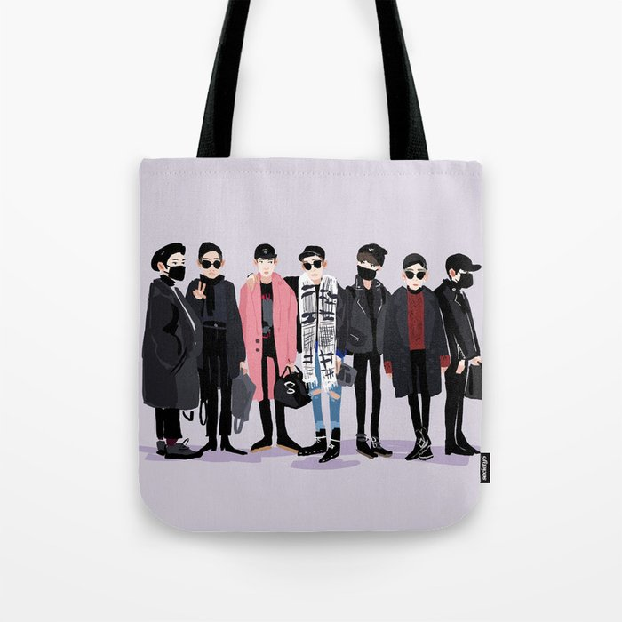 9687fdc3fde BTS airport fashion Tote Bag by littlepeople