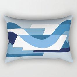 SUISSE - Art Deco Modern: BLUE MONDAY Rectangular Pillow