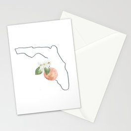 florida // watercolor orange blossom state flower map Stationery Cards