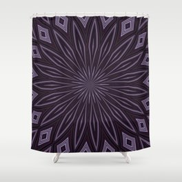 Eggplant and Aubergine Floral Design Shower Curtain