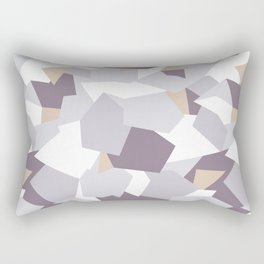 Violet abstract forms Rectangular Pillow