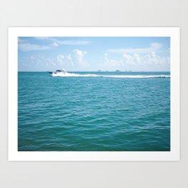 Miami Ride Art Print