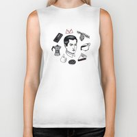 dale cooper Biker Tanks featuring dale cooper collage by Bunny Miele