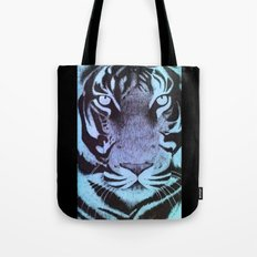 Be a Tiger (Blue) Tote Bag